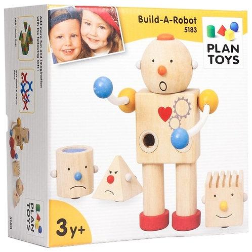 """Деревянный конструктор Plan Toys """"Робот"""""""