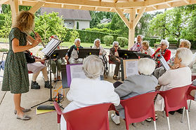 activité musique maison de retraite des salins de Bregille