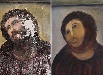 Elderly woman destroys 19th-century fresco with DIY restoration
