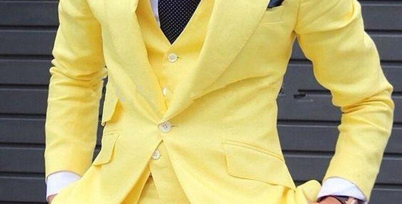 3 Pieces Men Suits Grooms Suit Jacket