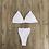 Thumbnail: Transparent Straps Halter Neck Solid Micro G-String Bikini Set Bra Thong Sexy