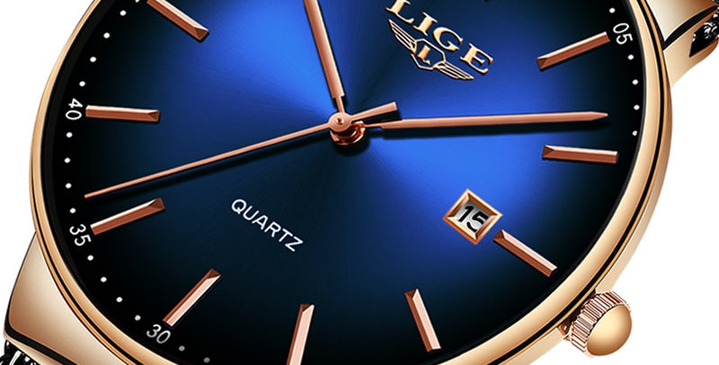LIGE Dial Mens Watches Top Brand Luxury Fashion Ultra-Thin M