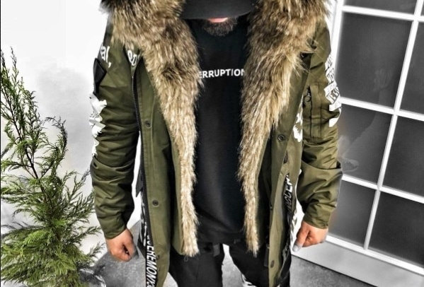 Parka Coat Men Overseas Fur Hood Male Jacket Cold Casual