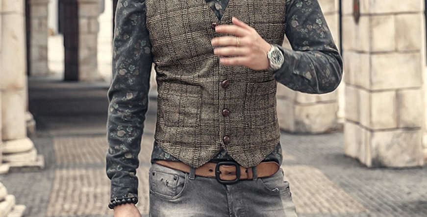 Suit Vest for  Casual Slim Fit  Vest for