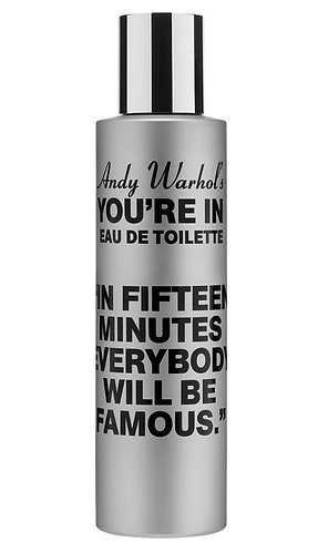 """Andy Warhol's You're In"" (FIFTEEN MINUTES 100ml natural spray)"