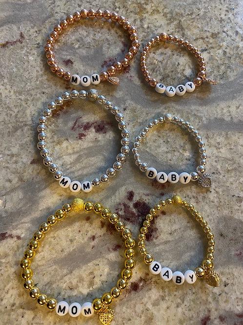The Baby/Mom Bracelet Sets