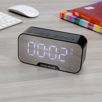 Caixa de Som Multimídia com Relógio e Suporte para Celular (Cód 03019)