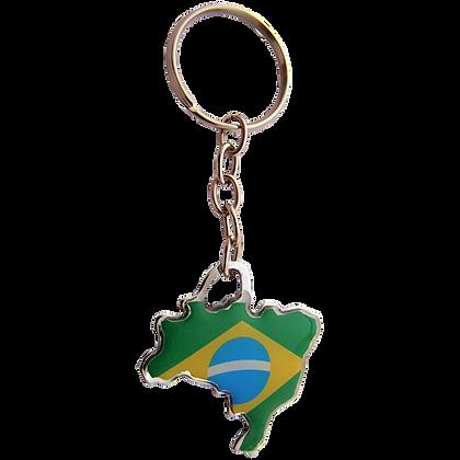 Chaveiro recortado Brasil