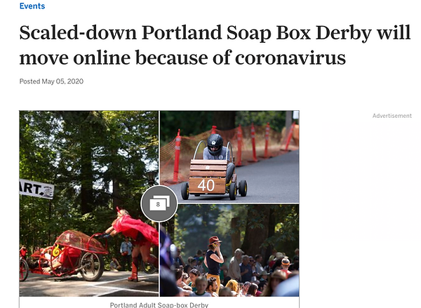 OregonLive Scaled-Down PDX Adult Soapbox Derby 2020