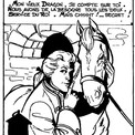 Le cheval Dragon aura souvent sa part dans les aventures de Saint-Clair.