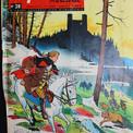 """Jeudi 15 juillet 1965 : la couverture de """"Fripounet"""" annonce """"Le Repaire de l'Aigle"""". On peut reconnaître au loin la silhouette du château d'Andlau, alors totalement abandonné et qui, depuis 2001, fait l'objet de travaux de conservation grâce à une association de bénévoles."""