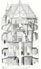 Coupe d'un donjon, dessin de Viollet-le-Duc