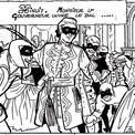 Décors et costumes font aussi partie de la BD. L'intrigue se dénouera lors du bal donné par le Gouverneur.