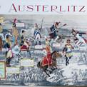 """En 1969, le bicentenaire de Napoléon suscite plusieurs illustrations sur ce thème. Pour ce poster dépliant, destiné au journal """"Fripounet"""", Pierre met en scène différents acteurs de la bataille en utilisant un fond de carte de l'époque."""