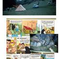 """Des vacances en camping amènent à la création de cette histoire où intervient un authentique et pittoresque personnage, le """"Guide du squelette""""."""