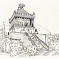 …ou des scènes documentaires comme ce tombeau du roi Mausole à Halicarnasse, l'une des Sept Merveilles du monde antique.