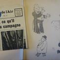 Un tract allié daté de 1941, dissimulé dans un carnet de croquis et de caricatures de Pierre
