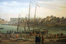 Vue du port de Dieppe par Horace Vernet, 1765