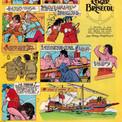 """Les épisodes se succèdent : """"Sur la route d'Espagne"""" paraît en 1972, """"La Cassette du roi"""" et """"Courrier du Roy !"""" en 1973, """"Le Garde noble masqué"""" en 1974. Au péril de leur vie, les deux héros doivent ensuite percer les secrets d'une principauté-pirate, """"Le Royaume de Roger Brisecol""""."""