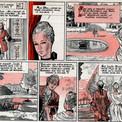 Pour réduire les frais d'impression, le journal n'emploie pas la couleur dans toutes ses pages. Pierre travaille donc les images au lavis avec une trame orangée qui, à l'impression, empâte souvent le trait fin du dessin original.