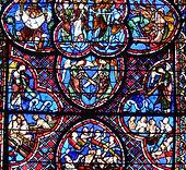Cathédrale de Bourges, vitrail