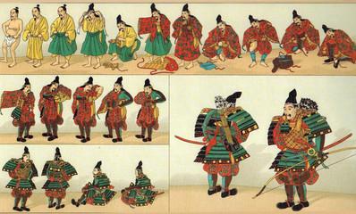 """Racinet, """"Costumes militaires du Japon"""""""
