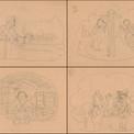Projet d'une frise de 12 panneaux muets expliquant la transmission d'information entre la Résistance et les Alliés