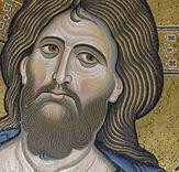 Visage de Christ byzantin, mosaïque, Monreale, Sicile