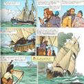 """Saint-Clair et Yannig vivent ensemble """"L'Epopée du Cormoran"""", ce qui permet à Pierre Brochard de satisfaire son goût pour l'ancienne marine à voiles."""