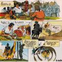 """A leur retour en France, Perrac et Pactole, comme leur illustre modèle Cyrano de Bergerac, se retrouvent dans les rangs des troupes royales au siège d'Arras. Mais quand paraît ce nouvel épisode, """"Le Convoi de vivres"""" en 1979, l'auteur et le dessinateur ne savent pas que ce sera la dernière aventure de Perrac-la-Rapière."""