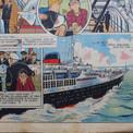 Toujours passionné par les navires, Pierre exploite au mieux les documents qu'il a recueillis auprès de la Compagnie Générale Transatlantique.