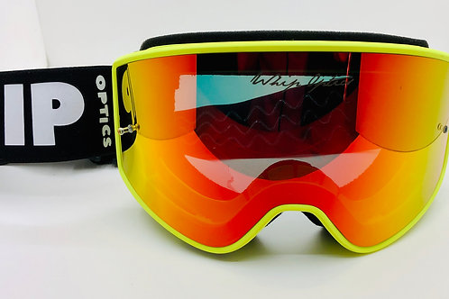 Fast Yellow fluo lens mirror red + lens clear included
