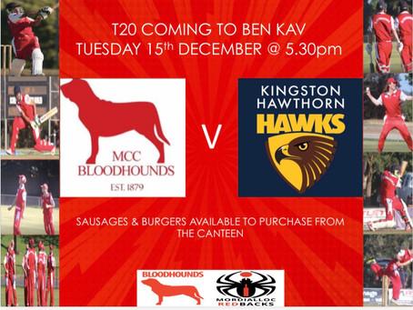 T20 Coming to Ben Kav!