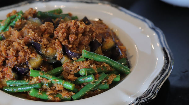 Sambal Eggplant with Green Beans