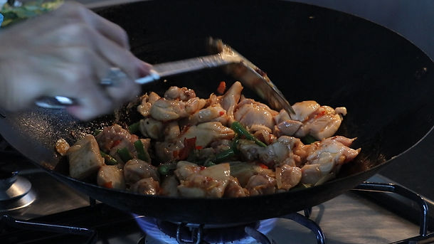 Chicken Stir-Fry with Chillies and Basil Leaves | Pad Krapao Gai