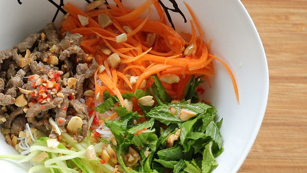 Lemongrass Beef Vermicelli Noodle Salad | Bun Bo Xao