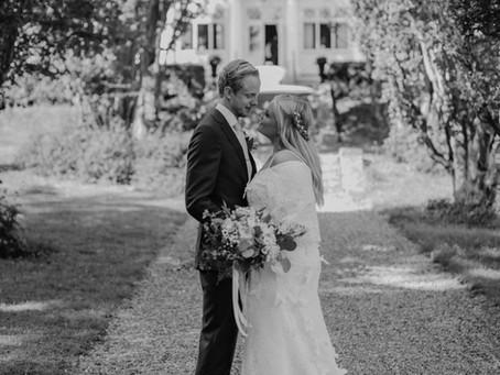 Bröllopsfilmning på Bergendal herrgård i Stockholm den 24/8 2019.