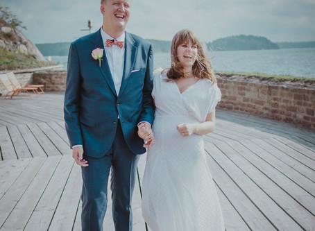 Bröllopsfotografering på Fredriksborg på Värmdö, 5/9 2018