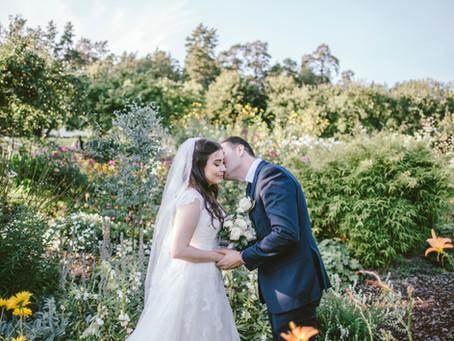 Bröllopsfotografering på Nyckelviken i Stockholm, 14/9 2019