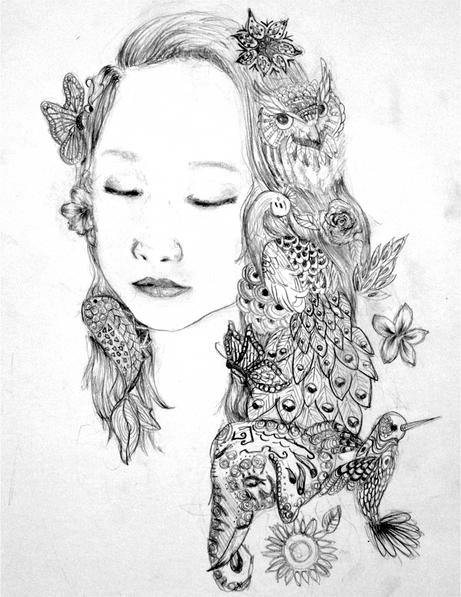 Zen Doodle Portrait