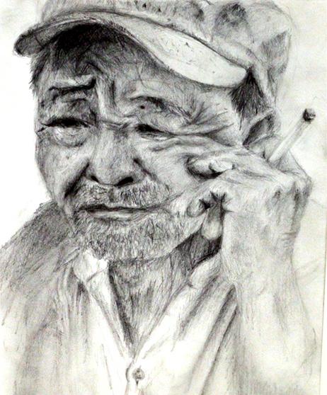 Old Man with Cigerette