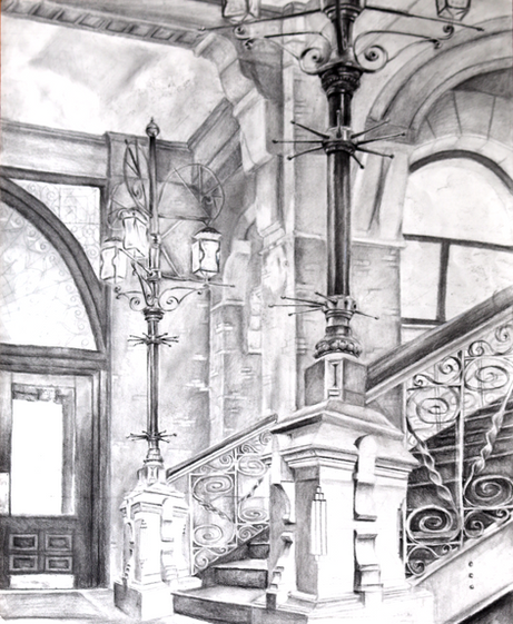 Library Perspective Drawing