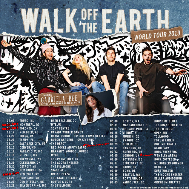 Walk Off The Earth 2019 World Tour