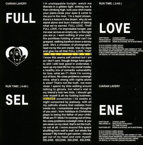 "Ciaran Lavery - ""Selene"" - single art"