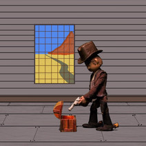 The Cowboy with his Box - Stop motion An