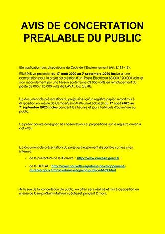 flyer AVIS DE CONCERTATION PREALABLE DU