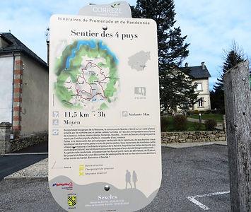 PANNEAU RANDO Sentier des 4 puys