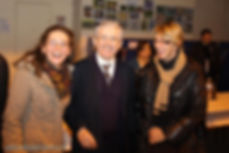 Lors de la Cérémonie des Voeux, Marie Doussaud Muyle, Présidente de l'Association des Anciens, François David, Chef d'établissement et Nathalie Armand, Présidente de l'APEL Edmond Michelet