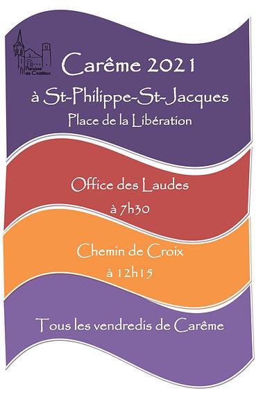Affiche horaires laudes et chemin de cro