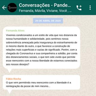 Conversações em tempos de pandemia (Parte II)